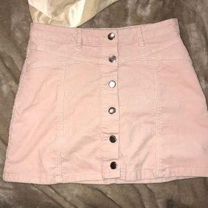 Pink corduroy mini skirt (27)